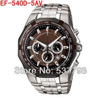 Original New Fashion Men's Sports Watch Mens Chronograph Wrist Watch EF-540D-5AV EF-540D 540D Brown Face Waterproof Wristwatch