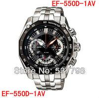 Original EF-550D-1AV Chronograph Mens Watch EF-550D 550 With 1/20 Stopwatch Pendulum Function