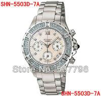 Original Brand New Fashion Women Quartz Watch SHN-5503D-7A Ladies Fashion Water Resistant Sports Watch
