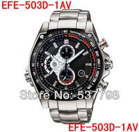 Brand Original New EFE-503D-1AV EFE-503D 503D Chronograph Sport Men's Black Dial Wristwatch Men's Sports Watch