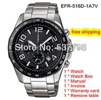 Original New Fashion Men's Watch EFR-516D-1A7V Men's Sport Chronograph Wristwatch EFR-516D-1A EFR-516D 516D 516