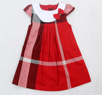 Free shipping in 2013, the latest British style, Doll brought girl's skirt, Large lattice tennis skirts dresses 100% cotton