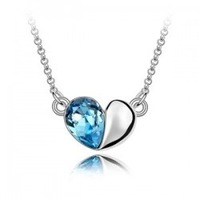 Girls accessories crystal necklace love necklace all-match cryptograph crystal - necklace 1088