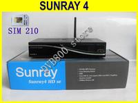 Hot sale decoder Sunray 800 Se SR4 Triple Tuner Wifi Internal SIM2.10 Sunray4 HD se Satellite Receiver MADE IN CHINA Free Ship