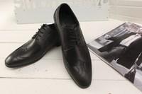 New 2014 men brand flats genuine leather men shoes black brown colors fashion mens wedding dress shoes