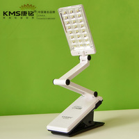 Led charge folding clip small table lamp  reading light white color free shipping