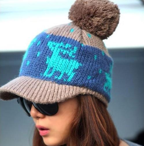 Peaked Cap Knitting Pattern : Peak Hat Knitting Pattern Promotion-Online Shopping for Promotional Peak Hat ...
