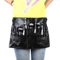 Professional Cosmetic Makeup Brush PVC Apron Bag Artist Belt Strap Protable Make up Bag Holder