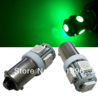 30pcs Car Led Lamp BA9S 5050 5 SMD LED Green Light Base Light Bulbs Interior Bulb 64111 64132 57 H6W  DC 12V #OI4