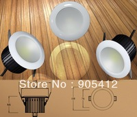 wholesale price ceiling down light 12w COB type led good heat elimination body two years warranty