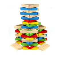 Multicolour buttressed music 120 buttressed high layers pumping music building blocks wooden toy