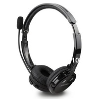 2 in 1 Over the Head Boom Mic Microphone Stereo Bluetooth Headset Wireless Handsfree Headphone Nosie Canceling BH M20 (Black)