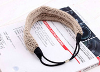 Knitted headband Cottone Crochet elastic hairbands