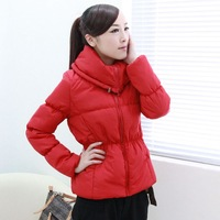2013 women's autumn and winter short design slim wadded jacket female long-sleeve thickening cotton-padded jacket outerwear