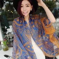 Scarf female long design spring and autumn summer beach towel large silk scarf sun cape