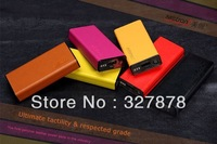 Free Shipping Metrans Genuine Leather Mobile Power Bank External battery With USB port (5500mah) for iPhone LF-1791