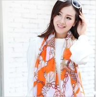 2013 women's goatswool chiffon silk scarf autumn and winter long design chiffon georgette large cape
