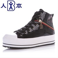 2013 high-top shoes side zipper women's elevator casual shoes platform shoes 3622