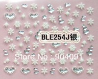 NEW ARRIVAL 20PCS/LOT Snowflake 3D NAIL sticker design, Christmas&Snowflake Series For Fingernail Desgin&decoration for nail art