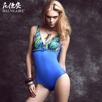 free shipping 2013 swimwear female one piece push up swimwear plus size small