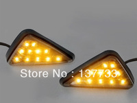Free Shipping 2 x motorcycle Euro Triangle Flush Mount 11LED Turn Signal lights