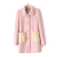wholesale Europe 2013 new winter home to fight in the long-haired fur pocket lapel loose it overcoats