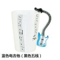 Free Shipping 2013 New Creative Guitar Music Mug Ceramic Mug Coffee Cup/novelty gift