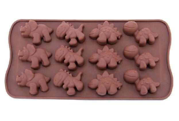 50pcs / lote Frete Grátis Silicone Xmas Dinosaur Chocolate Biscoito Doce Pop Mould Cortador de Fondant Bolo de Ferramentas C796S(China (Mainland))
