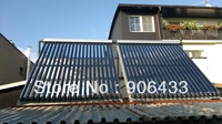 FREE SHIPPING/ 600L with75tubes sapartaely pressure solar water heater / Put your water tank in house /1 cooper coil