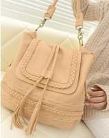 2013 women's handbag shoulder bag messenger bag bohemia tassel bucket bag