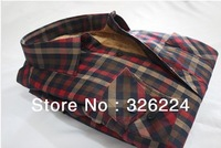 2013 Autumn Mens Plaid Shirts Long Sleeve Sueded Shirts For Men Thick Warm Shirt Men Big Plus Size 100% Microfiber