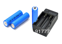 new 3 piece 14500 2200mah 3.7v LED Torch Camera Rechargeable AA Battery with charger