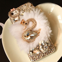 For samsung   i8552 n7100 s7562 s4 i9150 i9100i879 phone case crystal swan protective case