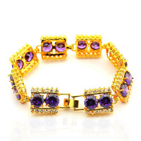 New Arrival Wholesale 24K Bracelet,24K Gold Plated Bracelet,Fashion Jewelry Bridal Yellow Gold Bangle Bracelet YHDH064