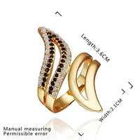 New Arrival 18K Gold Plated Ring,Fashion Jewelry Ring,18K Rhinestone Austrian Crystal Ring Men Women Wedding Rings SMTPR367
