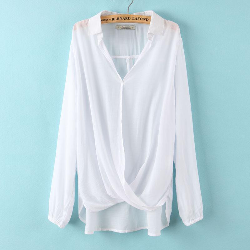 Модные Шифоновые Шелковые Блузки-Рубашки Купить