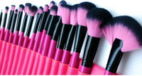 free shipping!!! Professional 24pcs  Make up Brush Set tools,Facial Beauty Cosmetic Brushes Set hot sale;mink hair