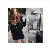 Hot sale ! sexy back wings women hoody dress Free shipping!!