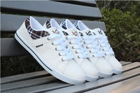 New 2014 Hot Sales Popular Fashion Design Style Canvas Shoes Men Summer Sneakers Male Shoes Casual Outdoor White