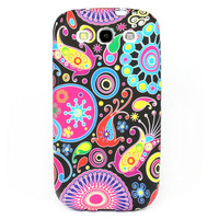 Style C Classical Flower Series TPU Gel Case Cover For Samsung Galaxy S3 SIII i9300 Free shippng & wholesale