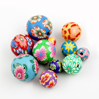 6mm 8mm 10mm 12mm 14mm 16mm Mixed Color Fimo Polymer Clay Ceramic Spacer Loose Beads