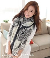 2013 fashion women's new autumn and winter Voile Scarf Oversized scarves wholesale scarves long Scarf fawn SCARF-14906
