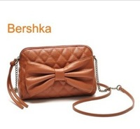Free Shipping 2013 women's fashion bow Shoulder Satchel sweet lady HANDBAG