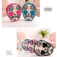 Woman Cute Skull Head Shoulder/Crossbody Bag Mini Personalized Messenger Handbag
