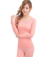 Retail ladies thermal underwear sets thin candy color
