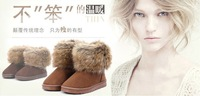 2013 Hot selling women's copy the fox fur snow  boots short winter boots women's shoes women's shoes cotton-padded shoes