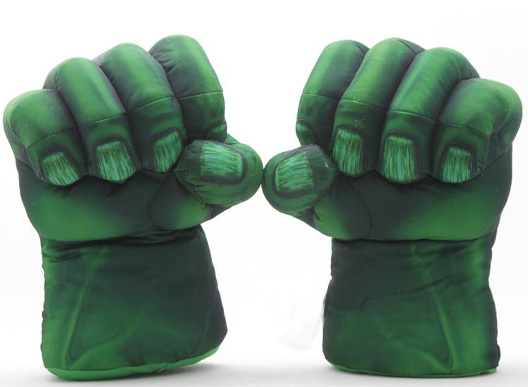 Spider man Green Giant The Hulk Plush Glove Gags & Practical Jokes Novelty & Gag Toys Funny(China (Mainland))