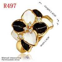 New Arrival 18K Gold Plated Ring,Fashion Jewelry Ring,18K Rhinestone Austrian Crystal Ring Men Women Wedding Rings SMTPR497