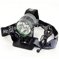 5pc/lot 5200LM 4x CREE XM-L XML T6 LED Light Bike Lamp HeadLamp Headlight Flashlight + 6x 18650 9600mAh Waterproof Battery Pack