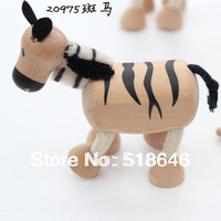Simulation Play Animal Model of Children's Wooden Maple Animal Dolls Wild Forest Animal Figurines Mini Size Hot Sales